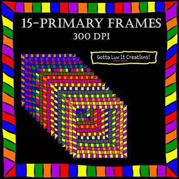 Digital Frames - Primary Colors