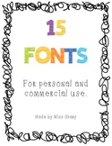 15 Fonts