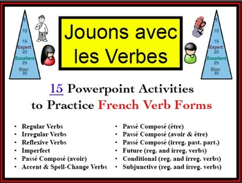 15 French Verb Form Powerpoint Activities (Jouons avec les