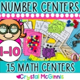 15 Hands-On Counting and Cardinality Number Centers (Black