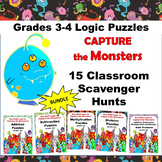 #springbackin 15 Math Scavenger Hunt Puzzles Games Bundle
