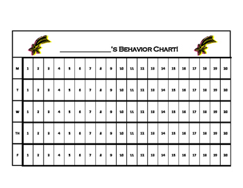 15 Minute Increment Behavior Chart