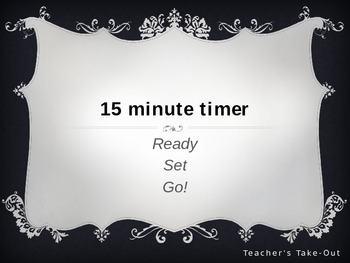 15 Minute Timer Without Graphics
