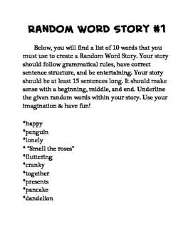 15 Random Word Stories