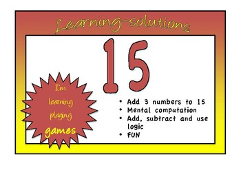 NUMBER FACTS - 15 - The GAME that teaches computation facts to 15