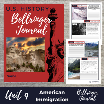 Immigration 15 Bell Ringers Warm Ups - DBQ