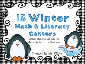 15 Winter Common Core Math & Literacy Centers {For the Mon
