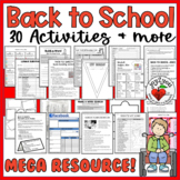 15 of My Best Back-To-School Activities! – FILLABLE PDF