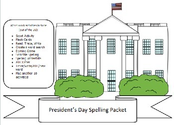 15 words for Presidents Day-20 activities of NO PREP word