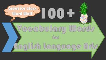 150 English Language Arts Vocabulary Words