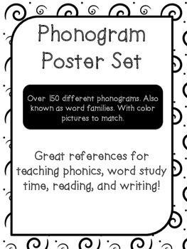 150+ Word Family Posters