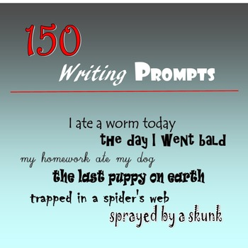 150 Writing Prompts