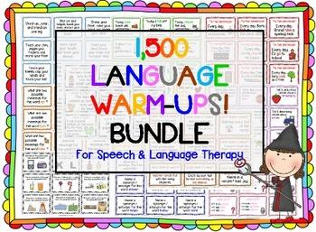 1,500 Language Warm-Ups BUNDLE! Speech therapy/ESL Grammar