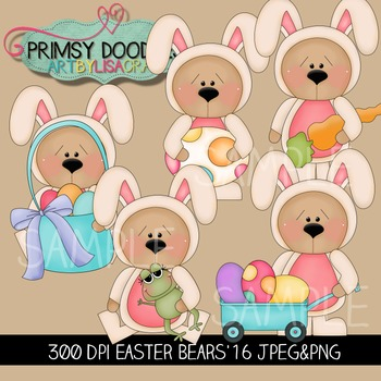 16-Easter Bears Clipart Collection