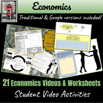 16 Economics Videos with Worksheets! ~Student Activities~