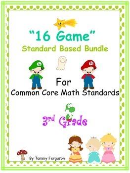 """""""16 Games"""" (Multiple) Standards Based Bundle for 3rd grade"""