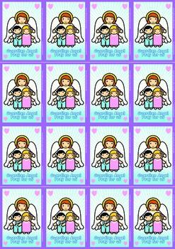 16 Guardian Angel Flash Cards - Catholic