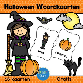 16 Halloween Woordkaarten