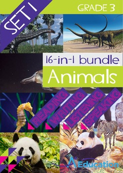 16-IN-1 BUNDLE- Animals (Set 1) - Grade 3