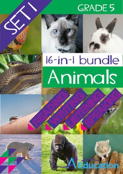16-IN-1 BUNDLE- Animals (Set 1) - Grade 5