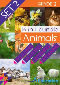 16-IN-1 BUNDLE- Animals (Set 2) - Grade 2