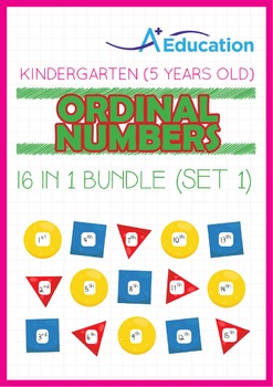 16-IN-1 BUNDLE - Ordinal Numbers (Set 1) - Kindergarten, K