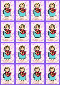 16 Immaculate Flash Cards - Catholic