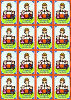 16 Lady of La Salette Flash Cards - Catholic