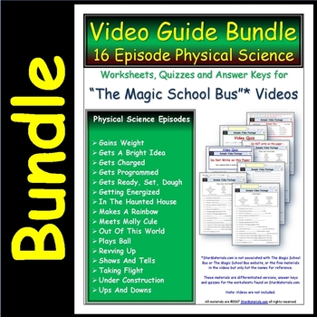 16 Magic School Bus ** Physical Science Episodes - Answer
