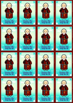 16 Padre Pio Flash Cards - Catholic