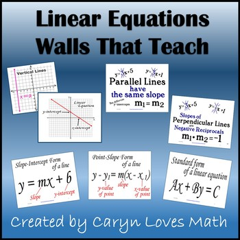 Linear Equations-Graphs-Slope-Parallel-Perpendicular-16 Po