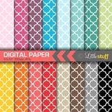 16 Quatrefoil Digital Papers, Value Priced Quatrefoil Digi