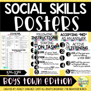16 SOCIAL SKILLS POSTERS {for older kids!} & Observation Form