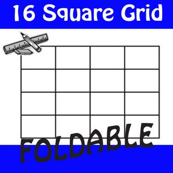 16 Square Grid Foldable Graphic Organizer
