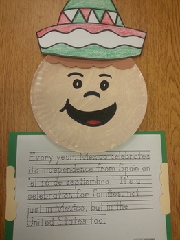Celebrate 16 de Septiembre Hat, paper plate pattern and wr