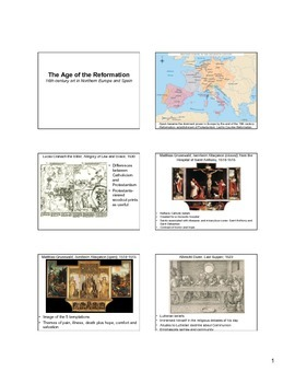 16th Century Northern Europe and Spain Art Notes (Reformat