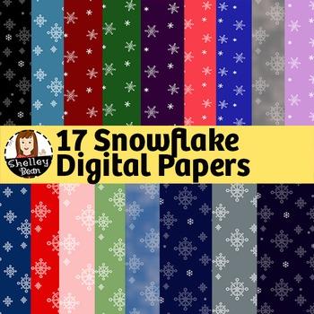 17 Free Snowflake Digital Papers