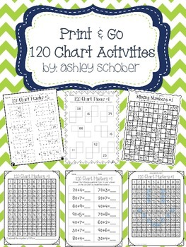 17 Print and Go 120 Chart Activities (printables)