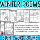 17 Winter Themed Sight Word Poems for Shared Reading (for