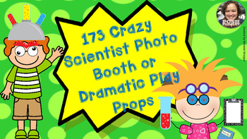 173 Crazy Scientist Props for Photo Booth Dramatic Play or