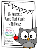 174 Nonsense Word Flash Cards with Beginning Blends