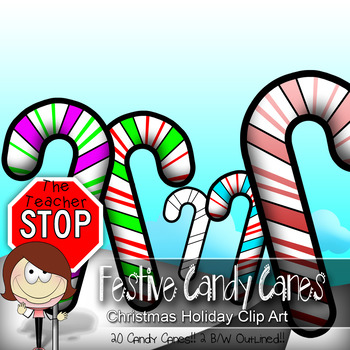 18 Colorful Festive Holiday Candy Canes {The Teacher Stop}