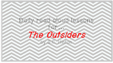 The Outsiders, A Unit Plan for Reading Instruction