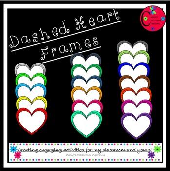 Dashed Heart Frames