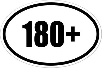 180+ Bumper Sticker - For the marathon that is TEACHING!!