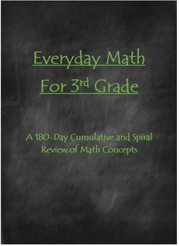 180-Day Cumulative Math Practice for 3rd Graders