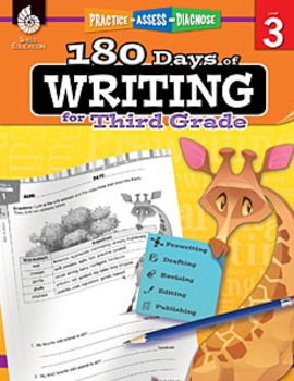 180 Days of Writing for Third Grade (Physical Book)