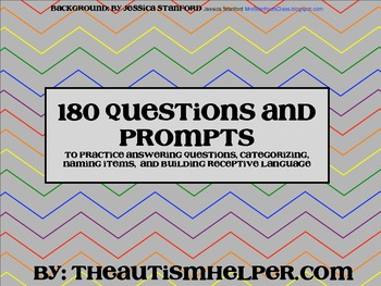 180 Questions and Prompts to Build Expressive & Receptive