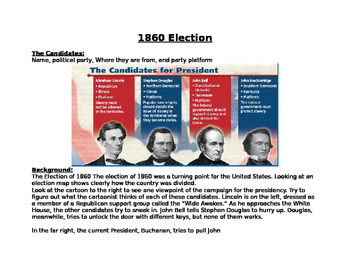 1860 Presidential Election- the cuase of the Civil War? Le