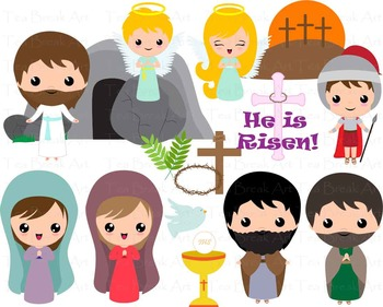 19 PNG Files- The Resurrection/Religious Easter Clipart Se